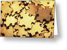 Antique Puzzle Of Missing Links Greeting Card