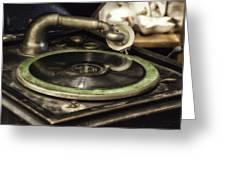 Antique Record Player 01 Greeting Card
