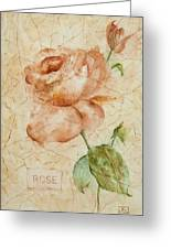 Antique Rose Greeting Card