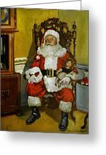 Antique Santa Greeting Card by Doug Strickland