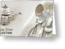 Antique Silver Collection Greeting Card