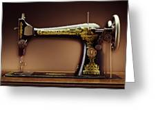 Antique Singer Sewing Machine Greeting Card