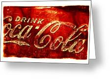 Antique Soda Cooler 2a Greeting Card