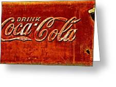 Antique Soda Cooler 3 Greeting Card
