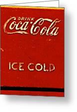 Antique Soda Cooler 6 Greeting Card