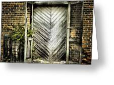 Antique Store Door Greeting Card