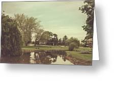Antique Stream Greeting Card