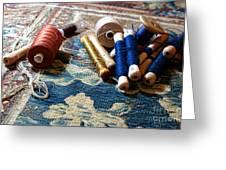 Antique Tapestry Repair  Greeting Card