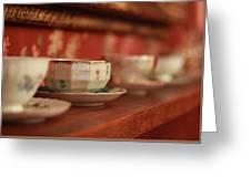 Antique Teacups Greeting Card