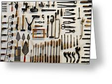 Antique Tools Greeting Card