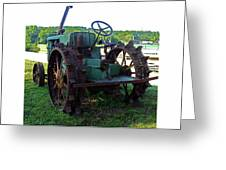 Antique Tractor 2 Greeting Card