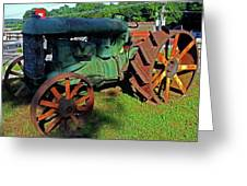 Antique Tractor 3 Greeting Card