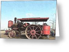 Antique Tractor - Rollag, Minnesota Greeting Card
