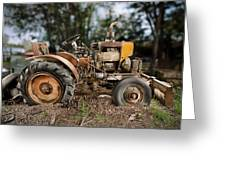 Antique Tractor Greeting Card