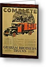 Antique Truck Poster Greeting Card
