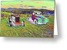 Antique Vehicles Greeting Card