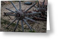 Antique Wagon Wheel Greeting Card