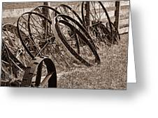 Antique Wagon Wheels II Greeting Card