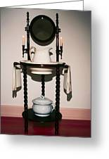 Antique Wash Stand Greeting Card