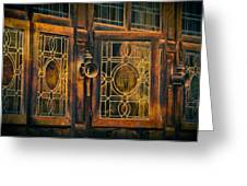 Antique Windows Greeting Card