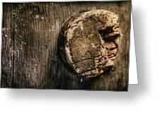 Antique Wine Barrel Cork Greeting Card