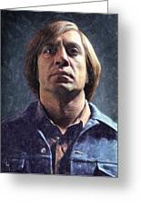 Anton Chigurh Greeting Card