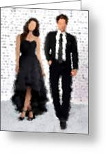Antonia And Giovanni Greeting Card by Nancy Levan