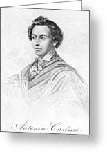 Antonin CarÊme (1783-1833) Greeting Card by Granger