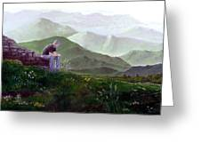 Antonio Atop La Rocca De Monte Calvo Greeting Card