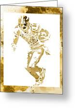 Antonio Brown Pittsburgh Steelers Water Color Art 4 Greeting Card