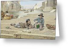 Antonio Ermolao Paoletti The Melon Sellers Greeting Card