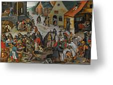 Antwerp The Seven Acts Of Mercy Greeting Card