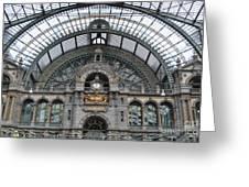 Antwerp Train Greeting Card