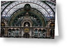 Antwerp Train Terminal Greeting Card