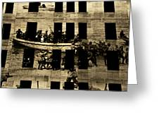 Anzac Pictures Projected In Martin Place 20 Greeting Card