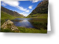 Aonach Eagach Ridge Glencoe Greeting Card