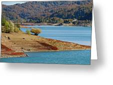 Aoos Lake Shore In Epirus, Greece Greeting Card