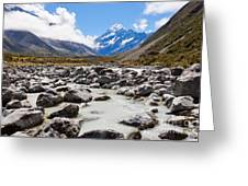 Aoraki Mount Cook Hooker Valley Southern Alps Nz Greeting Card