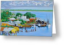 Apalachicola Waterfront Greeting Card