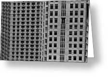 Apartment Buildings As Seen From 59th Street Greeting Card