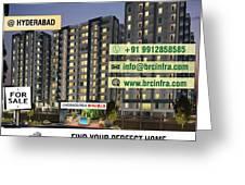 Apartments For Sale In Gachibowli, Manikonda, Hyderabad Greeting Card