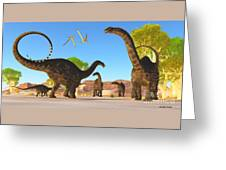 Apatosaurus Forest Greeting Card