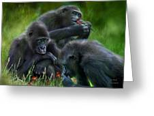 Ape Moods Greeting Card