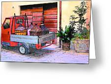 Ape Truck In Tuscany Greeting Card