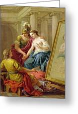 Apelles In Love With The Mistress Of Alexander Greeting Card