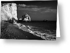 Aphrodites Rock Petra Tou Romiou Republic Of Cyprus Greeting Card by Joe Fox
