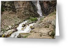 Apikuni Falls Greeting Card by Margaret Pitcher