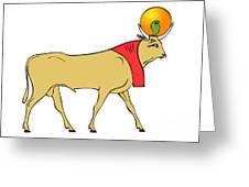 Apis - Egyptian Sacred Bull Greeting Card