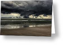 Apocalyptic Clouds Over The Atlantic Greeting Card