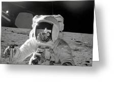 Apollo 12 Moonwalk Greeting Card